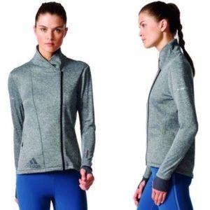 Adidas Climaheat Gray Running Jacket Sz XS